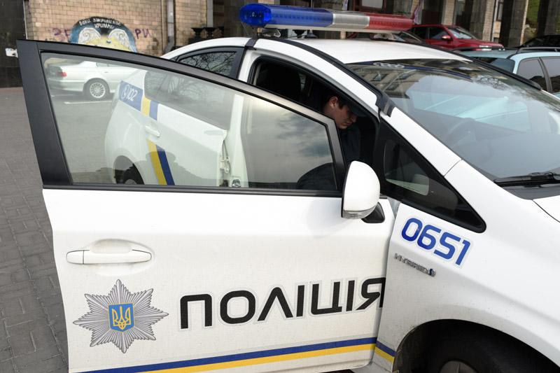Автомобиль сотрудников Украинской полиции