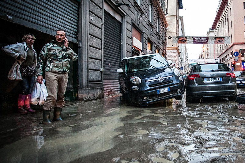 Последствия ливней в Италии