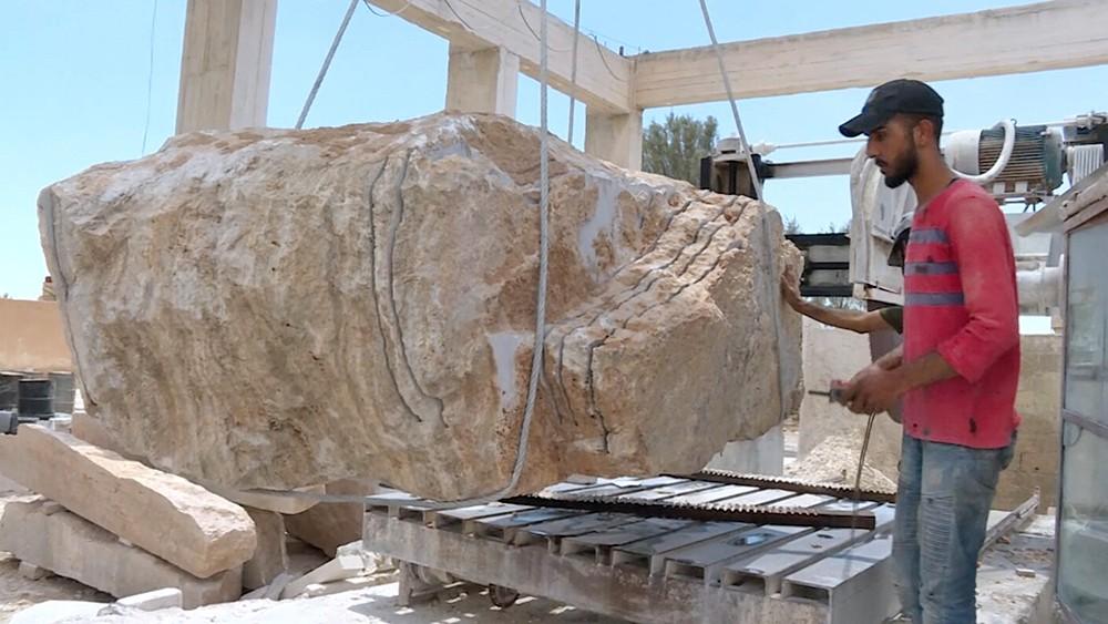 Камнеобрабатывающее предприятие в Сирии