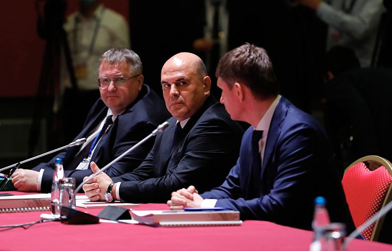 Михаил Мишустин на заседании Евразийского межправительственного совета в расширенном составе