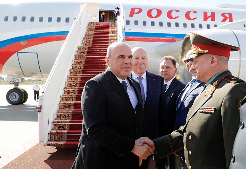 Рабочий визит премьер-министра России Михаила Мишустина в Белоруссию