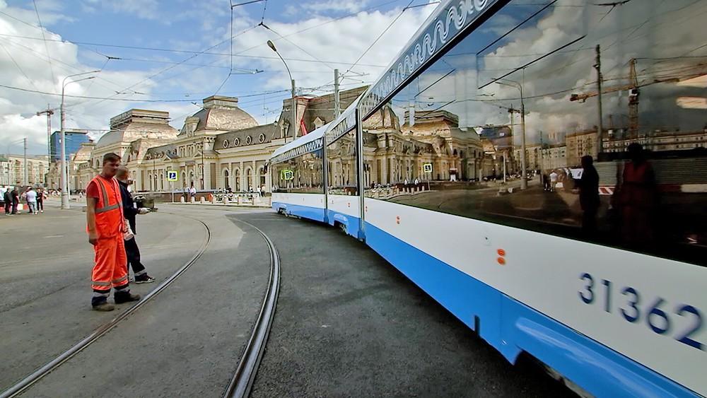 Трамвай у Павелецкого вокзала