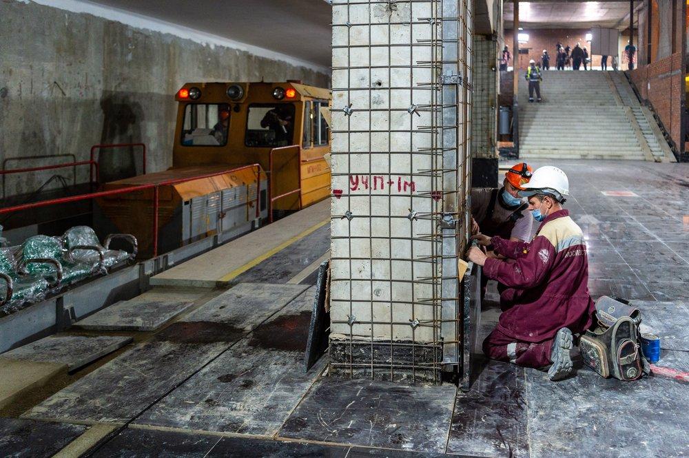 Строительство станции БКЛ