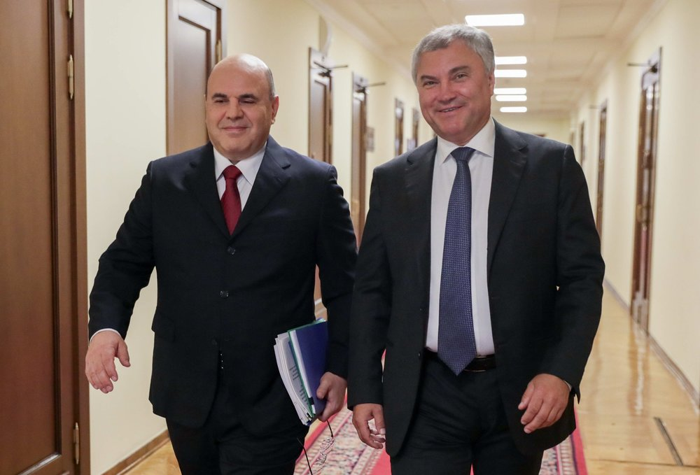Михаил Мишустин и Вячеслав Володин