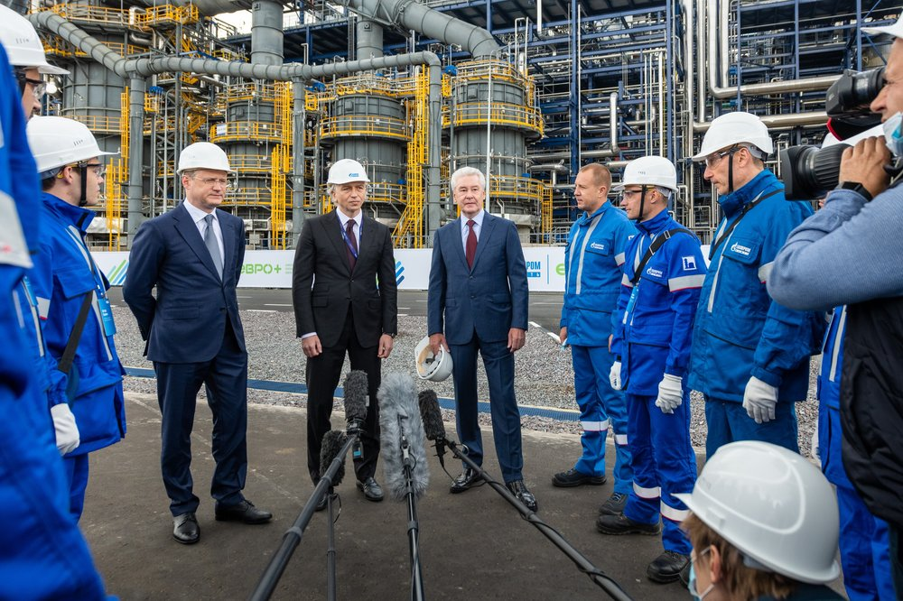 Сергей Собянин и Александр Новак посетили Московский нефтеперерабатывающий завод