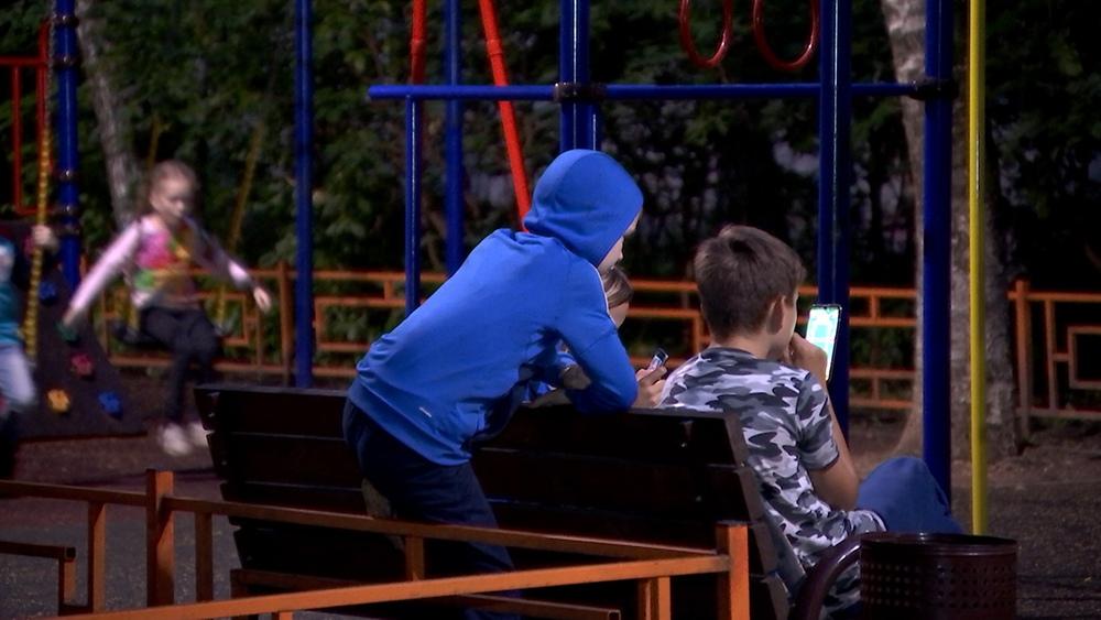Дети на площадке
