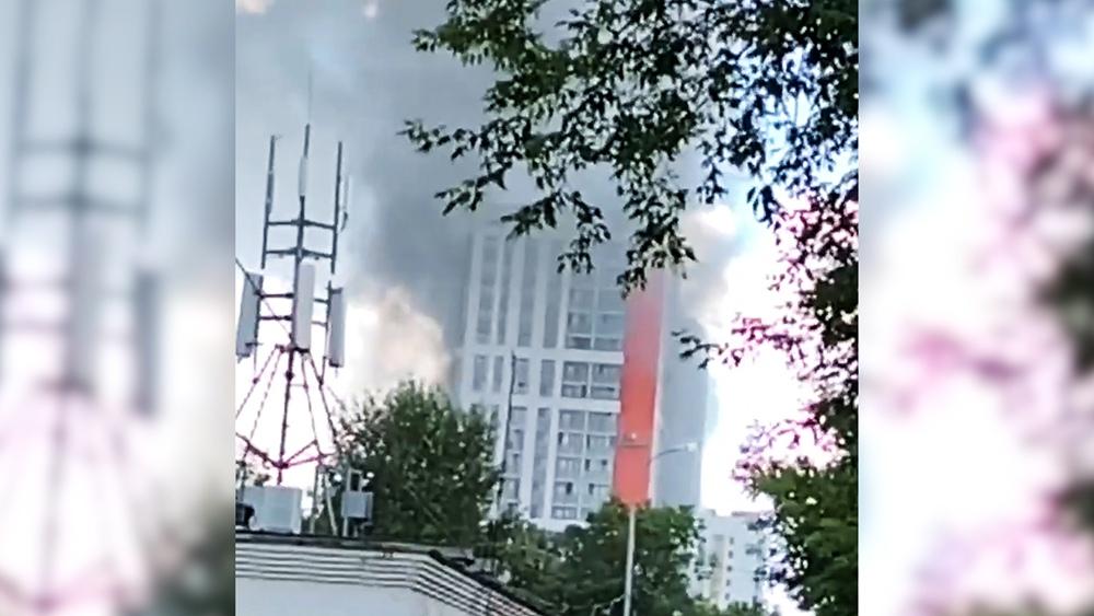 Пожар в новостройке