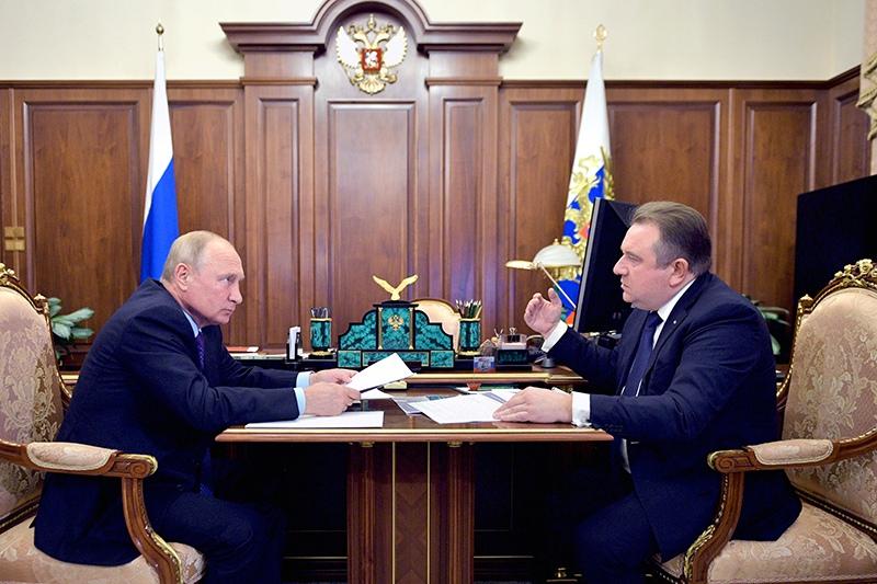 Владимир Путин и Алексей Рахманов