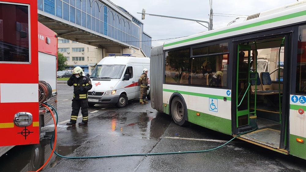 ДТП с участием автобуса в Москве
