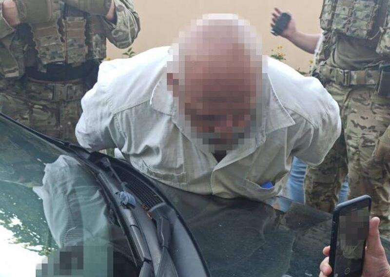 Сотрудники СБУ во время задержания
