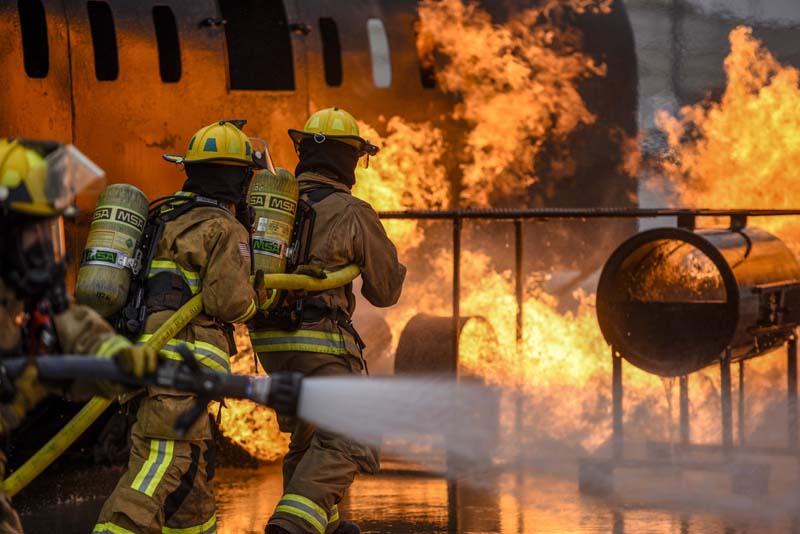 Возгорание поезда в США