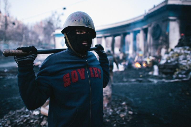 Участник беспорядков в Киеве, 2014 год