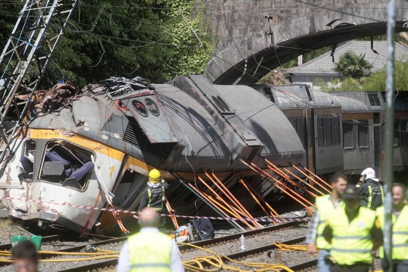 Авария поезда в Португалии