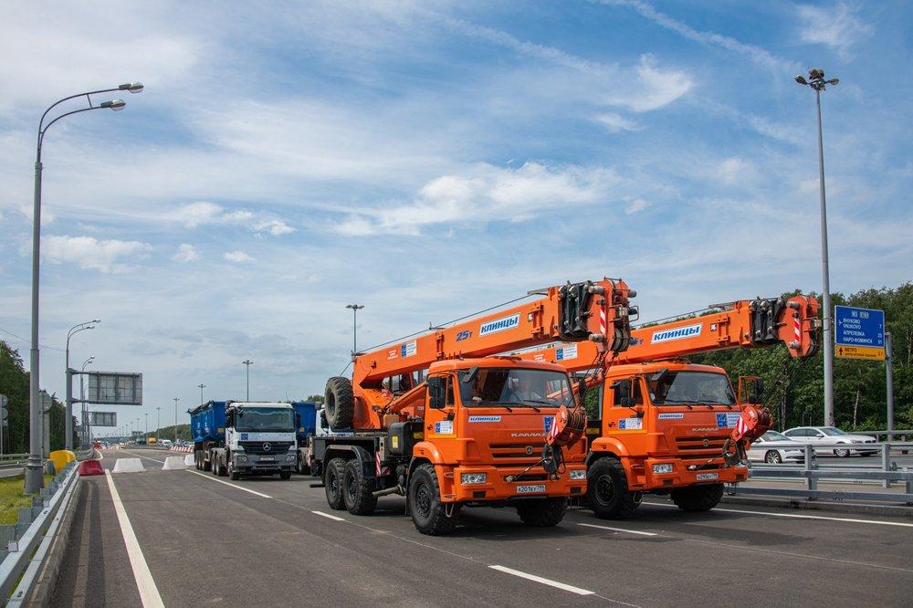 Открытие движения по дублеру Киевского шоссе в Москве