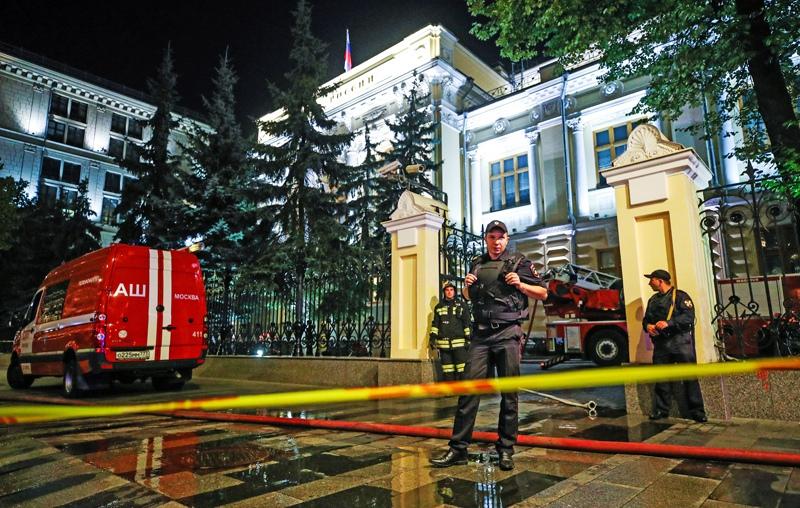 В здании Центробанка России произошел пожар