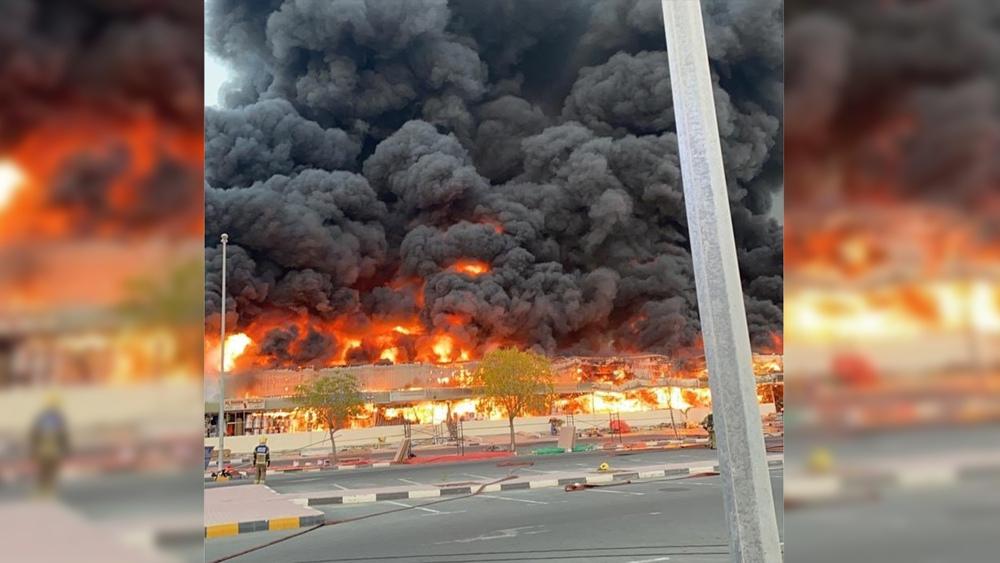 Крупный пожар в ОАЭ
