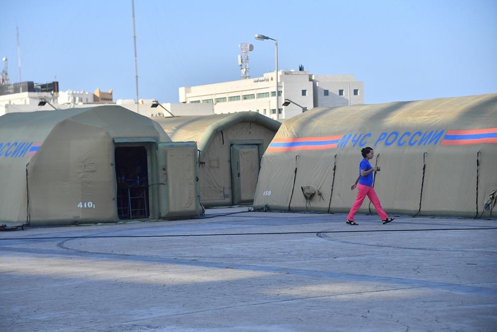 Аэромобильный госпиталь МЧС России в Бейруте