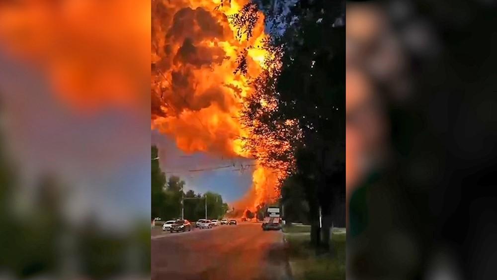 Взрыв газовой цистерны в Волгограде