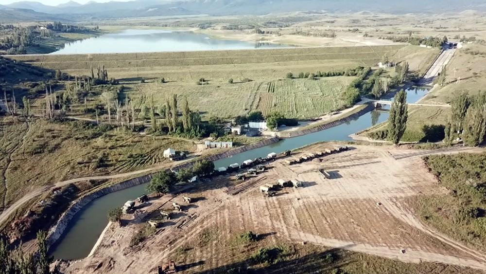 Наполнение водохранилища в Крыму