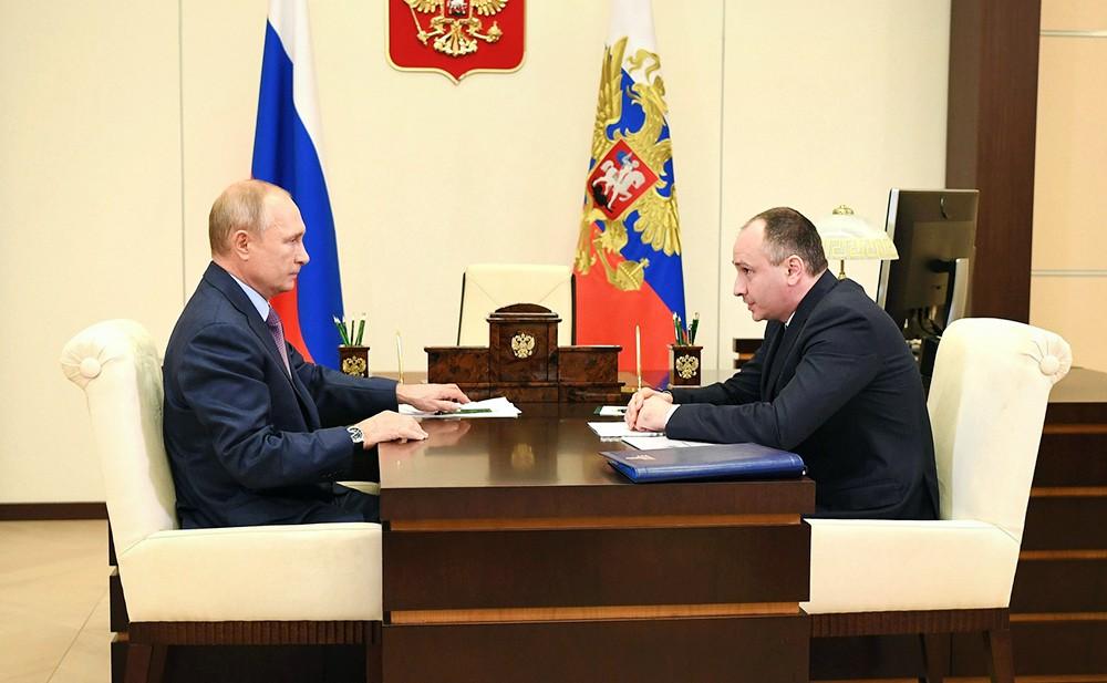 Владимир Путин и Борис Ковальчук