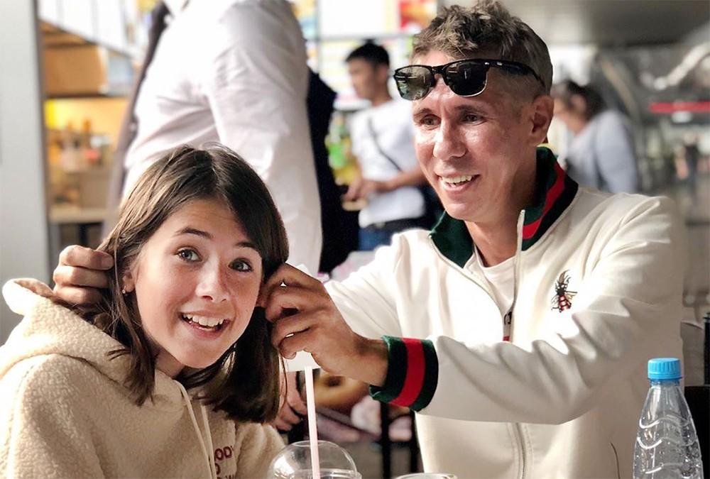 Алексей Панин с дочерью Нюсей