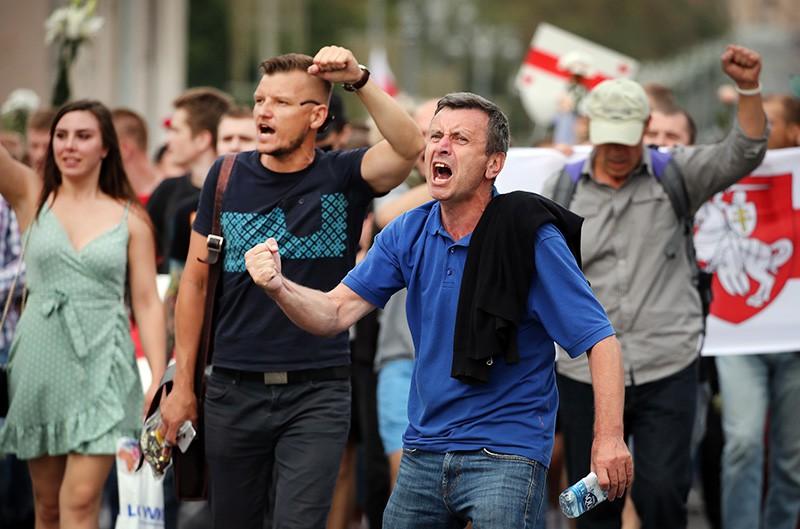 Участницы акции протеста в Минске