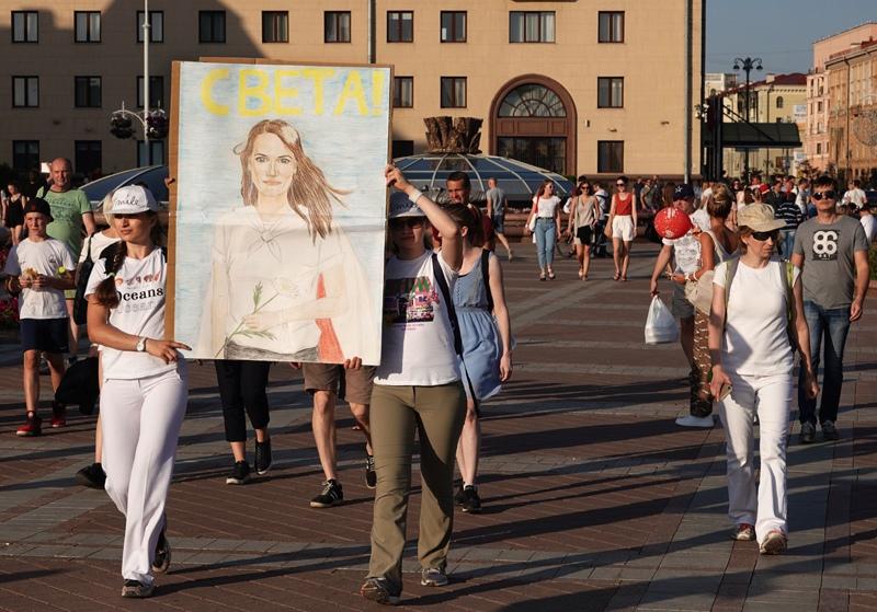 Акция сторонников оппозиции в Минске