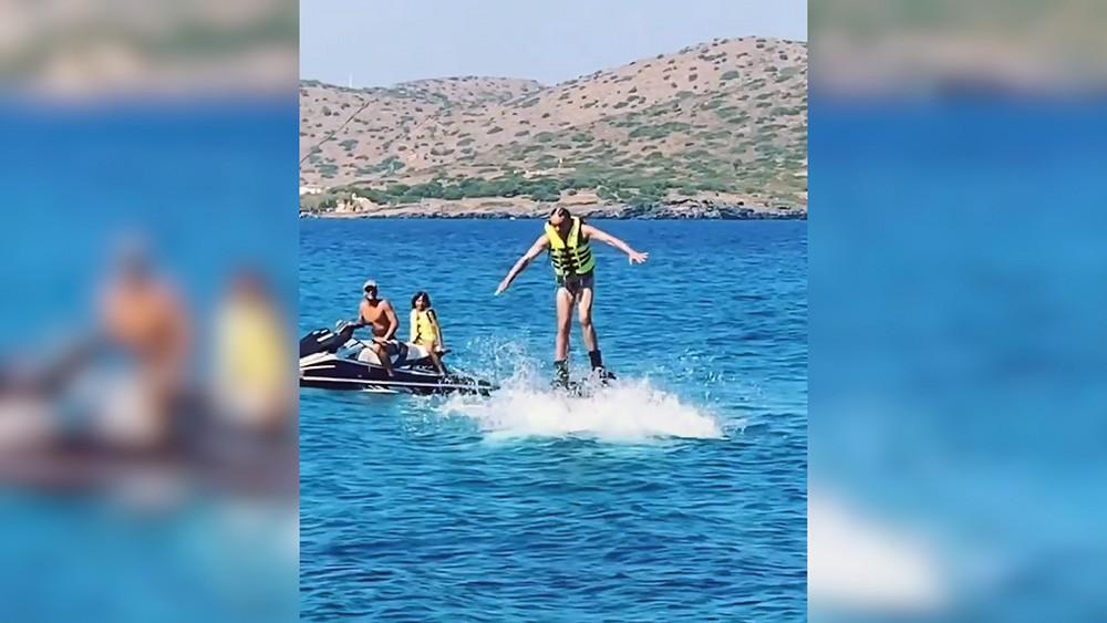 Филипп Киркоров на отдыхе в Греции