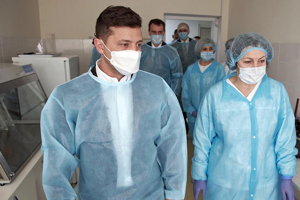 Владимир Зеленский в больнице