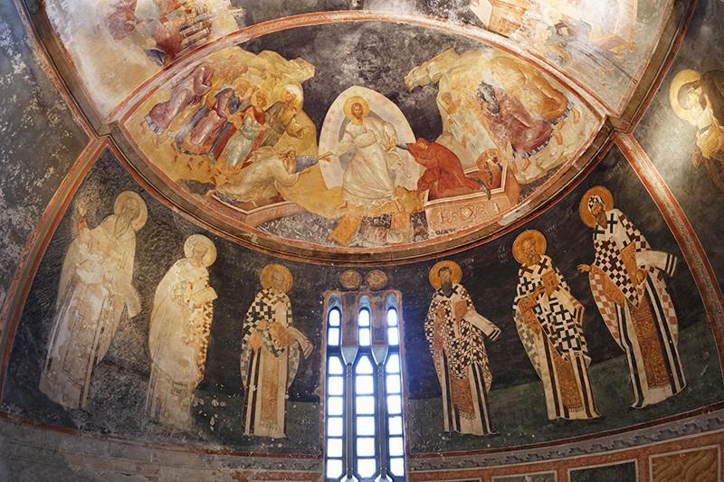 Фрески в монастыре Хора в Турции