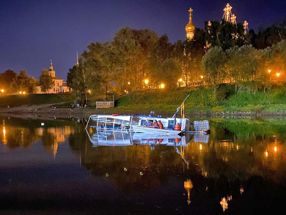Затонувшее судно в Вологде