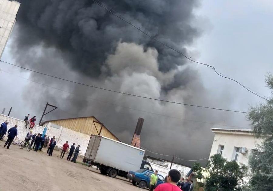 Пожар на заводе в Башкирии