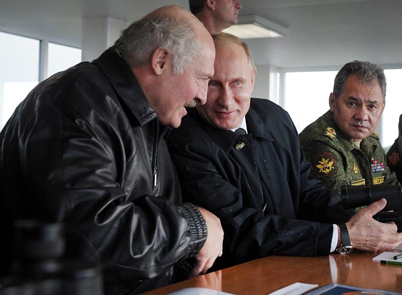 Владимир Путин, Александр Лукашенко и Сергей Шойгу