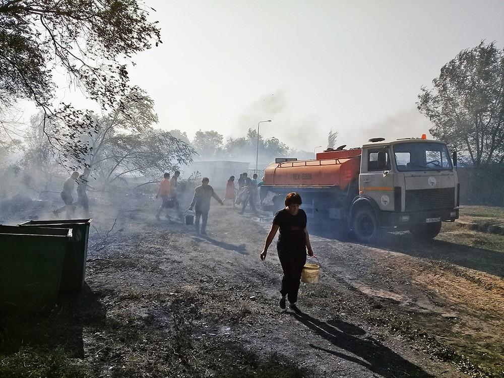 Жители сгоревших домов