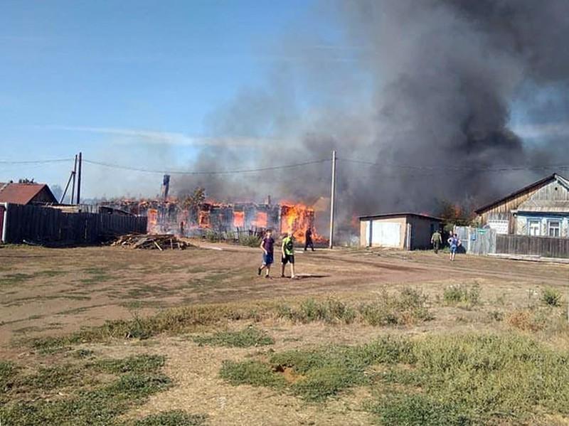 Пожар в поселке