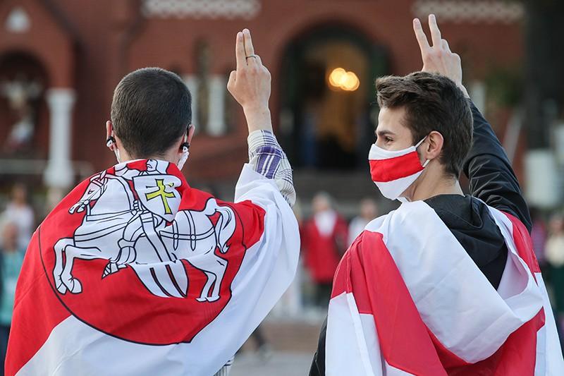 Акции сторонников оппозиции в Минске