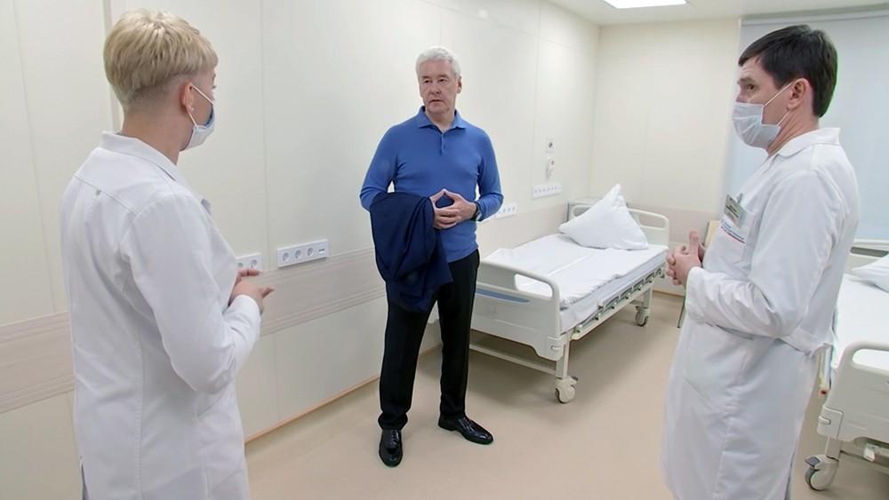 Сергей Собянин посетил ГКБ им. Спасокукоцкого
