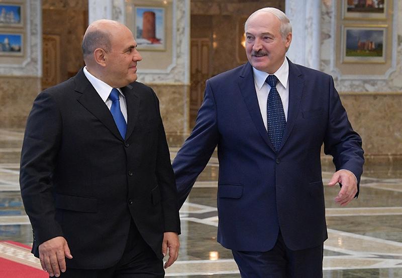 Михаил Мишустин и президент Белоруссии Александр Лукашенко