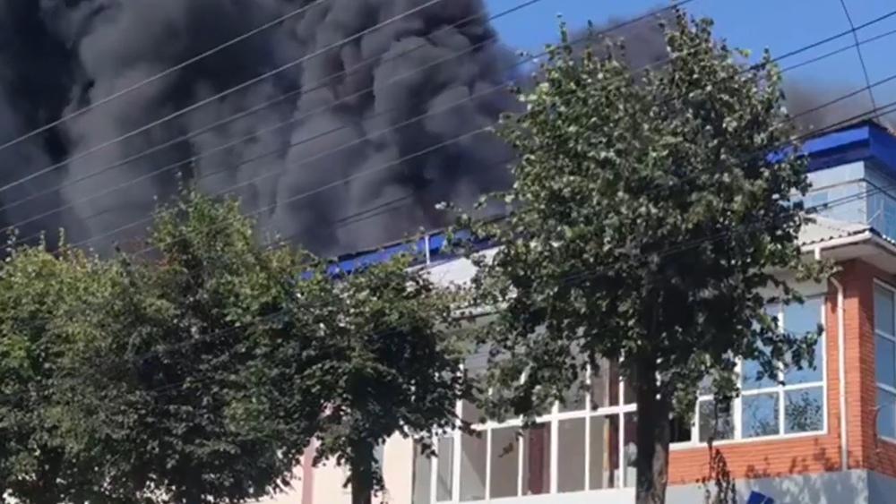 Пожар в Калуге