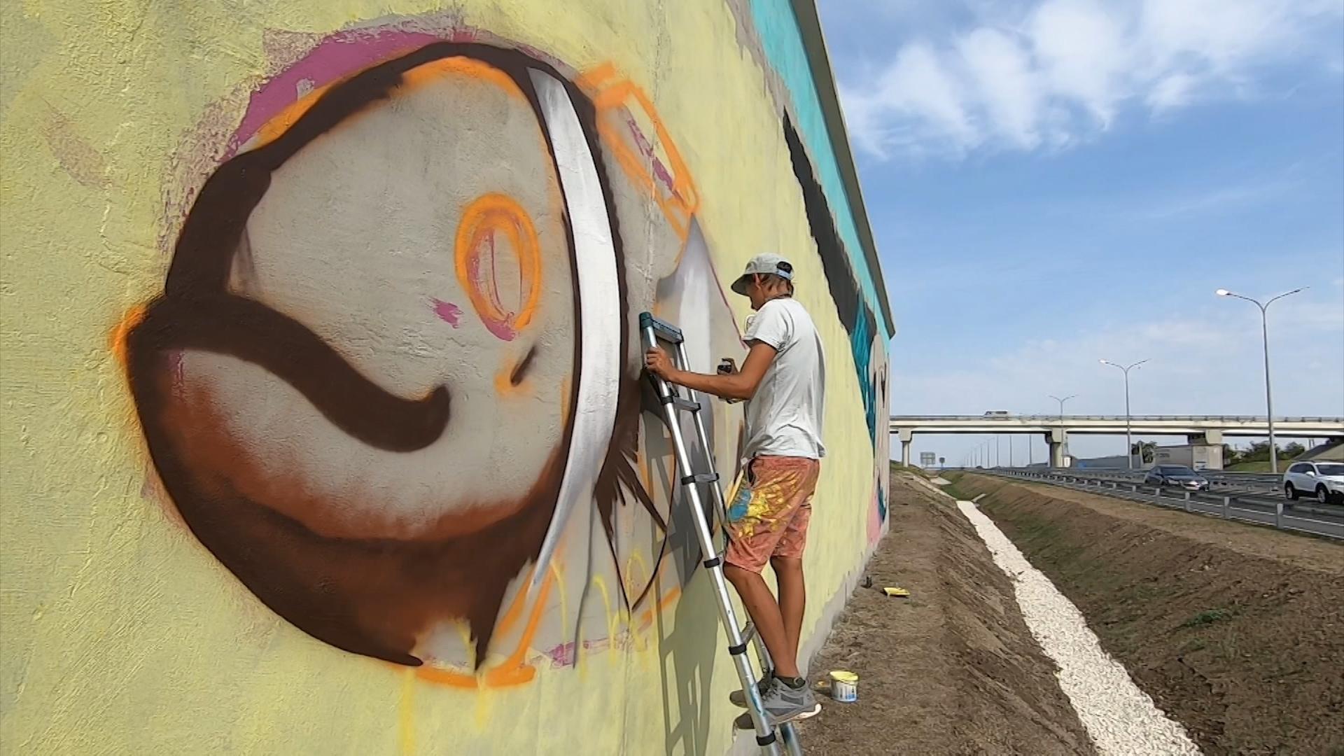 """Граффити на трассе """"Таврида"""""""
