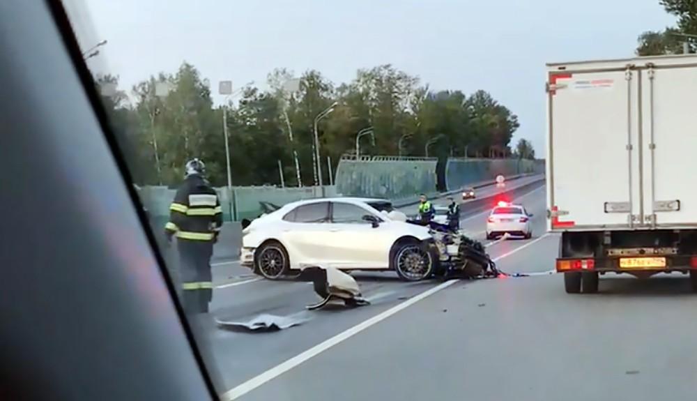 Последствия ДТП на Минском шоссе