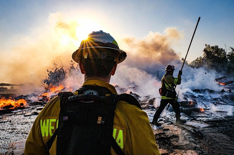 Природные пожары в США
