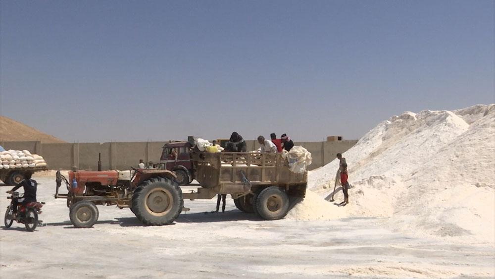 Добыча пищевой соли в Сирии