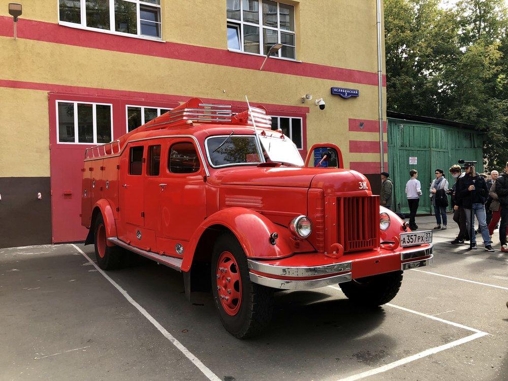 Пробег пожарных ретроавтомобилей