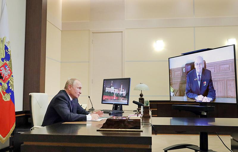 Владимир Путин и Герберт Ефремов