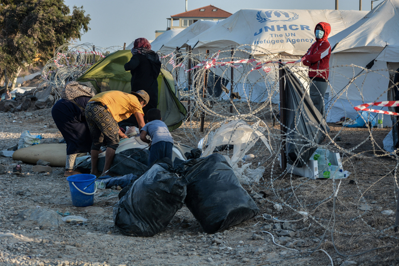 Лагерь беженцев в Греции