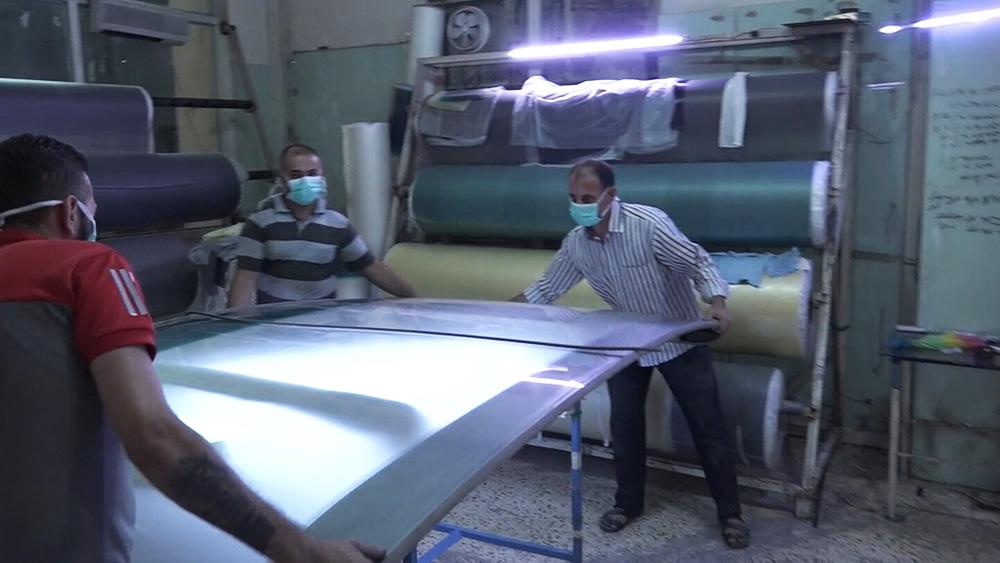 Стекольный завод в Сирии