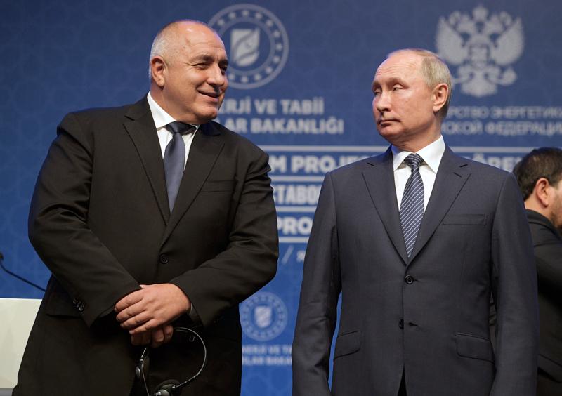Владимир Путин и премьер-министр Болгарии Бойко Борисов