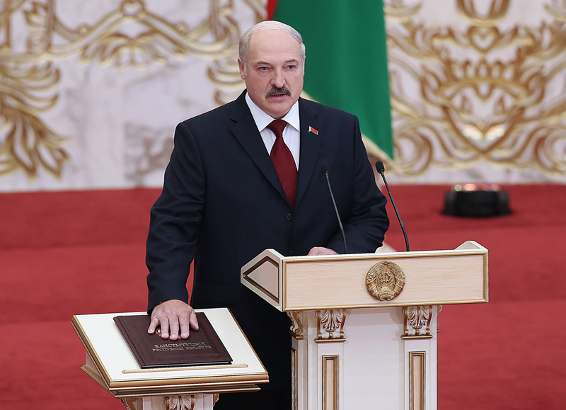 Церемония инаугурации вновь избранного президента Белоруссии Александра Лукашенко