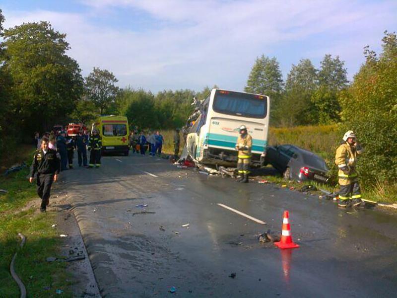 ДТП с участием автобуса в Калининградской области